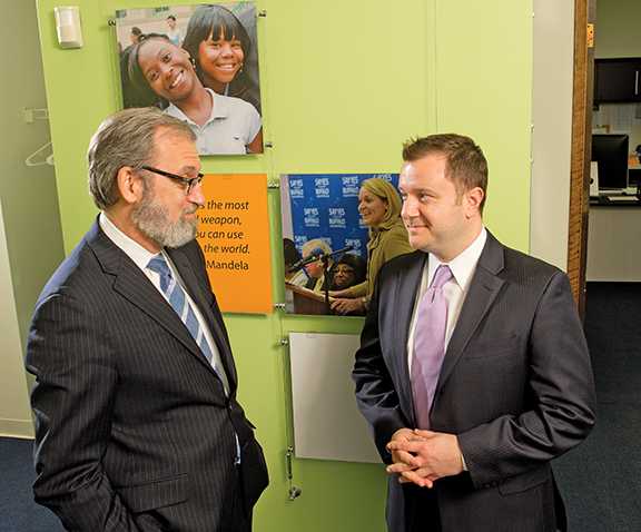 Gene Chasin (left), a former teacher and school administrator, is now the chief operating officer of the Buffalo chapter of Say Yes to Education; David Rust (right) serves as its executive director.